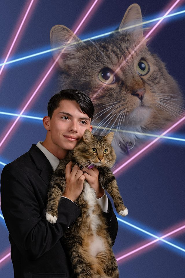 Laser Cat Photo Makes It In Yearbook