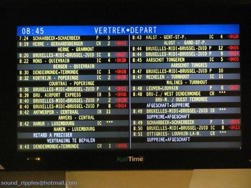 Contre l'allongement des temps de parcours SNCB