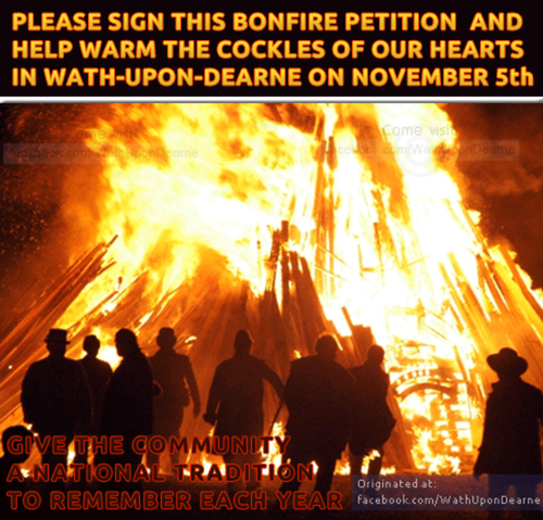 Wath Community Bonfire Petition