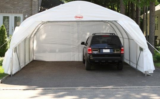 Driveway Car Tent : Petition allow tempo shelter for driveways in winter