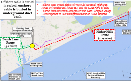 Petition Landing The South Fork Wind Farm Cable At Beach Lane Wainscott Causes The Least Disruption And Offers The Most Benefits For The Entire Community