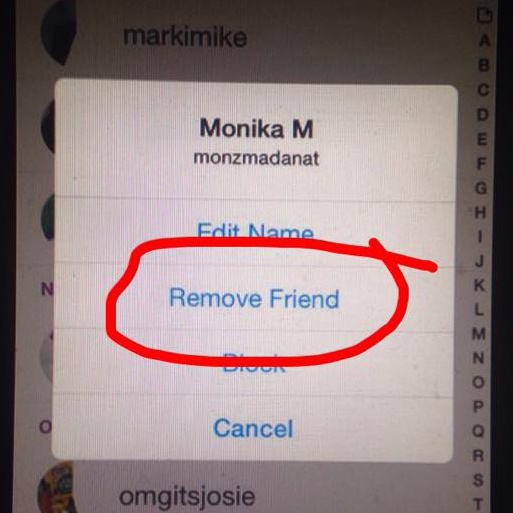 how to delete so comeone from snapchat