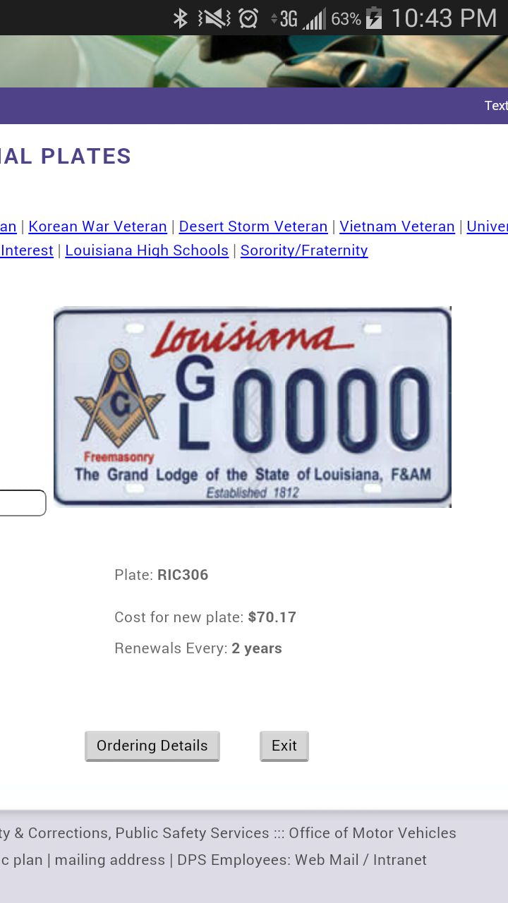 Petition Prince Hall Affiliated Masonic License Plate