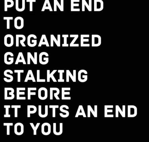 Petition PUT AN END TO ORGANIZED GANG STALKING BEFORE IT