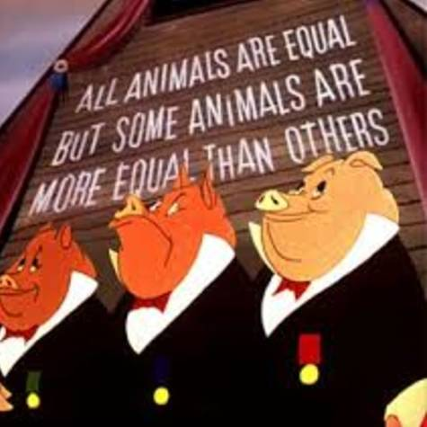 animal farm a political satire of Elements of satire in animal farm orwell, as quoted before, clearly explains that his main purpose for writing animal farm was to write a satire on the russian revolution (in shelden, 1991, p399.