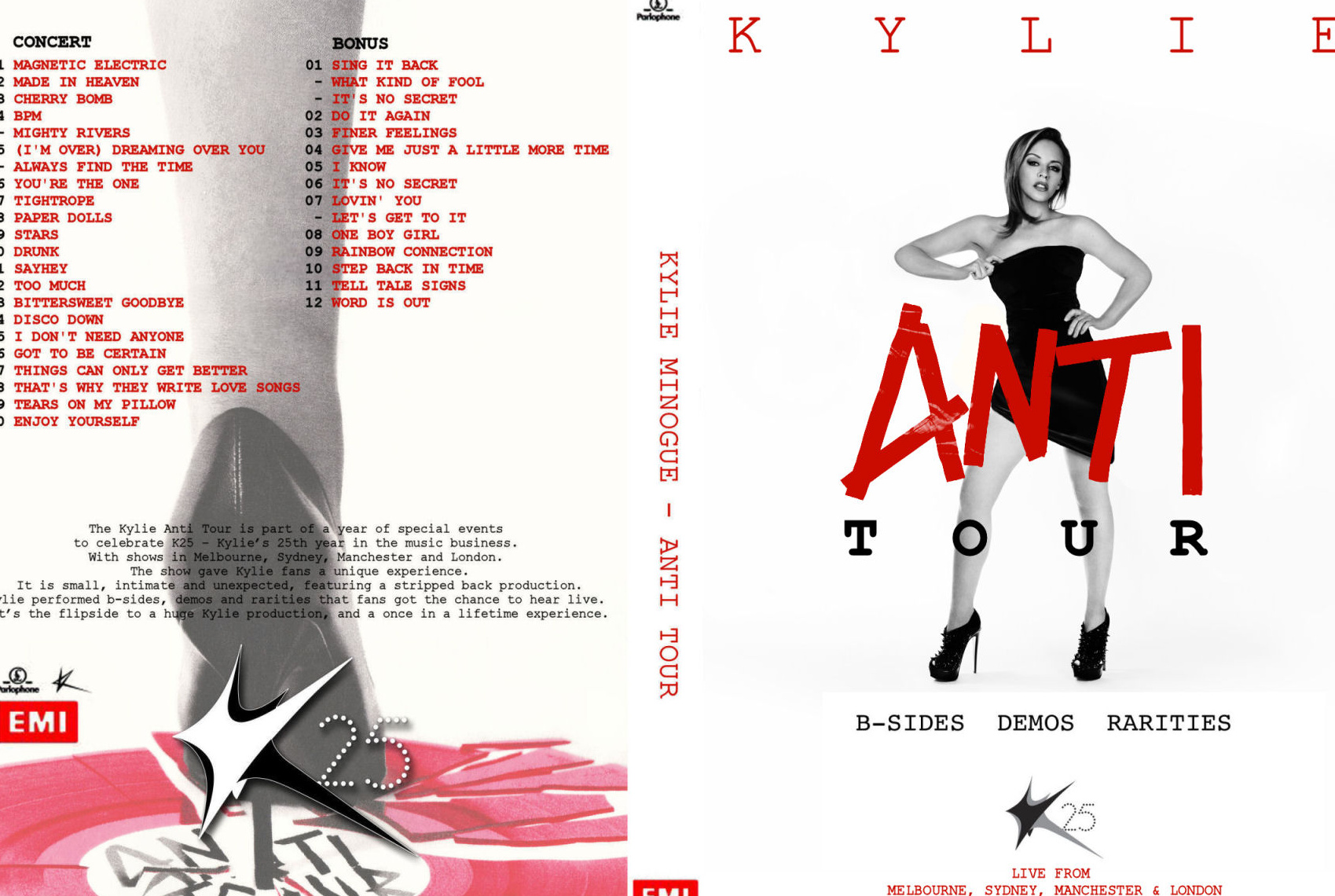Petition Release Kylie Minogue Full Boxset Of Her 5 Concerts Anti