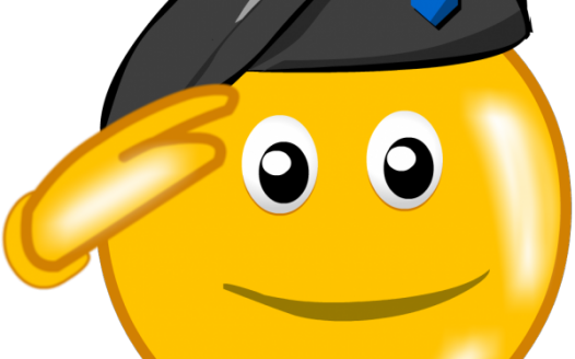 Salute Emoji - Emoji World