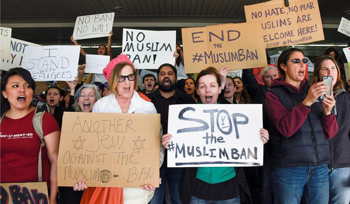 Sign to show you do NOT support the Muslim ban