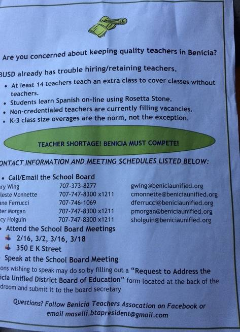 Pay BUSD Teachers a Competitive Salary and Benefits Package